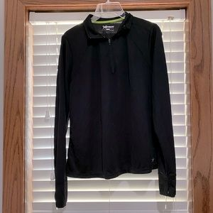 Xersion black long sleeve zip